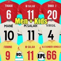 Liverpool 21 22 à domicile LVP M.SALAH ALEXANDER ARNOLD Mane Firmino VIRGIL DIOGO J Thiago A.BECKER maillot de football KEITA WIJNALDUM kit homme 2021 2022 ensemble enfant