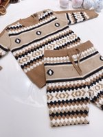 Winter Baby Girls Boys Sweater Sets Infant Children Knit Sweaters Cardigan With Shorts Tracksuits Toddler Kids warm outwear Tops