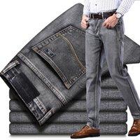 Algodón Nuevo Hombre Jeans 2021 Negocios Clásico Moda Denim Regular Slim Stretch Pantalones Azul Gris Pantalones Vaqueros Guinness Man JCE7