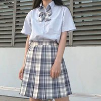 Clothing Sets Women's Japanese Large Size JK Uniform Plaid Skirt Uniforms Suit Sailor Female Student Cosplay Cross Dress