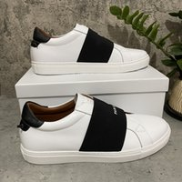 Calidad de primera calidad para mujer zapatos casuales moda blanco cuero plano al aire libre vestido diario fiesta con caja de caja 36-45