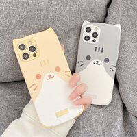 귀여운 3D 고양이 귀 전화 케이스 아이폰 12 미니 11 프로 최대 se 2020 x xr xs 최대 7 8 플러스 실리콘 가죽 뒷면 커버 만화 케이스