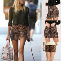 Sıcak Satmak Seksi Kadınlar Süper Mini Leopar Etekler Moda Yüksek Wasit Sıska Kalem Etek Sonbahar Yaz Bayanlar Gece Kulübü Partywear