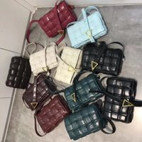 #2021# Fashion Weave style Leather ladies woven Messenger square bags temperament business check bag Joker luxury high quality shoulder bag