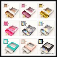 Epack Square 가짜 속눈썹 포장 상자 3D 밍크 속눈썹 상자 빈 래쉬 케이스 색상 및 믹스 선택