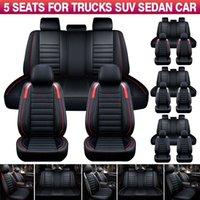 11PCS 5 s Bilbilar Säte täcker Protector Deluxe PU Läder Fram + Bakra Full uppsättning SUV Truck Cushion
