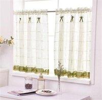 Romántico Cordillo dulce casero jardín pantallas medio café cortina cocina cortinas a prueba de polvo balcón table pritition cortina-40 1356 T2