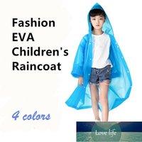 Erkek Kız Çocuk Su Geçirmez EVA Şeffaf Yağmurluk Çocuklar Şapka Temizle Yağmurluk Açık Rainwear 4 Renkler Fabrika Fiyat Uzman Tasarım Kalitesi Son Tarzı Orijinal