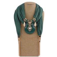 Moda mulheres cor sólida borla envoltório cachecol multi-estilo decorativo jóias colar pingente lenço hijabs femme cabeça lenços