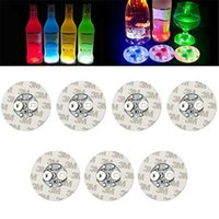 LED Bottle Stickers Coasters Light 4LEDs 3M Sticker Flashing led lights For Holiday Party Bar Home Party Use Free DHL