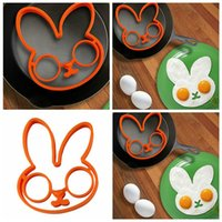 Силиконовые яйца выпечки милый кролик омлет жареная плесень кухонные омлет кольцо силиконовые формы для выпечки варочный инструмент FFF5077
