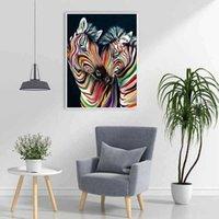 Картины DIY Horse 5D Живопись Полный Круглый сверлильный горный хрусталь животных алмазные вышивка кресты стежка наборы домашнего декора стены art1 h9mj