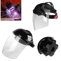 Taktik Hood Şeffaf Lens Anti-UV Anti-Kaynak Kask Yüzü Kalkan Lehim Maskesi Göz Korumak Anti-1