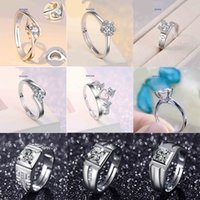2021 Party Favor Eight Hearts Arrows Zircon Imitation Moissanite Female and Male Six Prong Crafts Ring