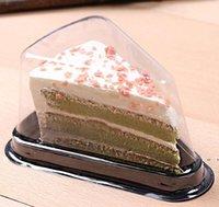 الجملة نفطة ساندويتش مربع التعبئة والتغليف الغذاء الصف واضح البلاستيك حاوية ساندويتش ل cake shop EWB5403