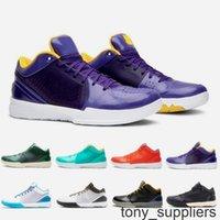 جديد ZK4 بروتيا غير مهدد أحذية رجالي كرة السلة 4 ثانية أسود مامبا مسودة ديل سول رجل المدربين الرياضة أحذية رياضية الحجم 40-46