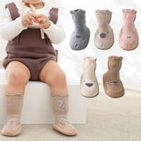 Men's Socks Toddler With Rubber Soles For Toddlers Kids Baby Boys Sock Shoes Warm Terry Thicken Slippers Infants Girl Winter