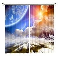Tenda Drappa Babson Double Color Sky 3D Stampa digitale Shading Personalizzato fai da te creativo pianeta creativo