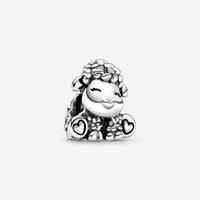 2020 Frühling Neue 925 Sterling Silber Perlen Patti Die Sheep Charms passen Original Pandora Armbänder Frauen DIY Schmuck