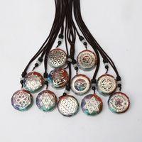 Yutong Orgone Anhänger Halskette Metatron Cube Orgonite Energy Anhänger 7 Chakren Reiki Heilung EMF Schutz Kristall Halskette