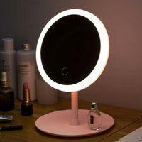 Makyaj Aynası Akıllı Soyunma Ayna Işık LED Ile Desktop Öğrenci Doldurma Ayna Güzellik Yurdu