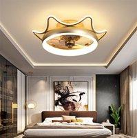 Корона спальни легкие люстры потолочный светильник вентилятор вентилятор кулонкой лампы роскошные детские комнаты для девочек 48W 80W лампы кухонные огни