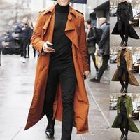 Новое длинное пальто мужчины весенний осень мужская траншея повседневные траншеи мужчины свободный британский стиль мужской пальто уличного одежды