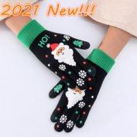 Kinder Erwachsene Weihnachtshandschuh Volle Finger Halten Warme Strickhandschuhe Stricken Schneeflocke Fünf Fingers Handschuhe Neujahr Party Geschenke Großhandel 2021