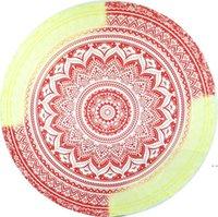 Indian Mandala Plage Serviette Ronde Plage Couverture Châle Polyester Printing Tapisserie Tapis de Yoga Tapis Été Pique-nique Tapis Serviette de Plage DHD5574