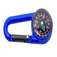 Прочный пластиковый компас брелок водонепроницаемый карманный размер ключевому кольцо декор открытый кемпинг снаряжение приключение выживание аксессуар Y51D