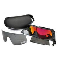 Nuovo stile Ciclismo Occhiali da sole Sport Bici Glasses Pesca Eyewear Occhiali sportivi all'aperto 9406 Mezza cornice da uomo Eyewear per cicli da uomo 3pcs obiettivo