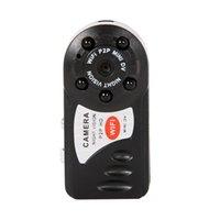Mini Q7 Câmera 480P WiFi Infravermelho Night Vision com seis luzes 300.000 (DPI) Mini Camcorders Kits para Home Car Security Black