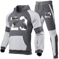 Kadın giyim erkek moda tasarımcısı eşofman casual sporcu erkek hoodies tişörtü spor ceket + pantolon erkekler sweatshirt set
