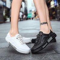 Zapatillas de hombre 2020 nuevos zapatos hombres moda PU Material Casual zapatos planos mujer zapatillas de deporte verano luz al aire libre tenis zapatos x5d5 #