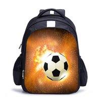 Rugzak Oxford Stof Voetbal Gedrukte Ritssluiting Sluiting Ergonomische Dagelijkse Sport Zachte Wandelen Casual Unisex Travel Multi Pockets