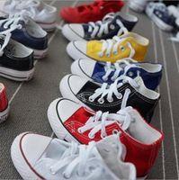 Vendita calda promozionale per bambini scarpe da tela moda alta scarpe bambini bassi ragazzi e ragazze sport classico canvas scarpe taglia 23-34
