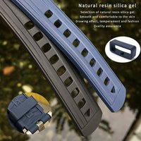 Remplacement de la sangle de montre de 20 mm de 19mm pour OMEGA Seamaster 300 Endbuvez en caoutchouc en caoutchouc fluoreuse en caoutchouc en caoutchouc en acier inoxydable 0311