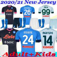2020/21 Napoli Men and Kids Home Third Third Soccer Jersey 20 21 Camiseta de Fútbol Insigne Milik Mertens Koulibaly Naples Football Commir