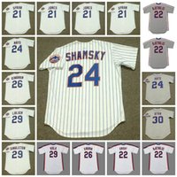 Nork Vintage Baseball Jersey 21 Cleon Jones Warren Spahn 1965 22 Kevin Mcreynolds 1987 Ray Knight 1986 24 Art Shamsky 1969 Mays Kingman Viola Singleton Lolich Ryan