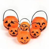 США - стоковое фото Хэллоуин украшения тыквы ведро с ручками пластиковые конфеты ведра для детей партии поставляет подарки