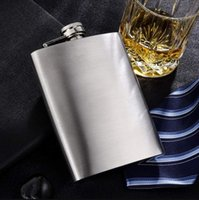Portable en acier inoxydable Hip Flacon Flagon et entonnoir Vin de haute qualité Vin de Whisky Pot Boissons Pochette de poche en plein air Bouteille d'alcool 4oz-8oz