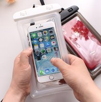 Cancella impermeabile Telefono Dry Pouch Custodia PVC PvC Protezione del telefono cellulare Borsa da bagno Touch Screen Borsa per cellulare Air Air per immersioni H264ovl
