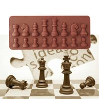 Cake Tools Silicone International Chess Form Cookies Molds For Cakes Decorating Baking Mold Kitchen Coffee Color