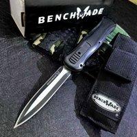 Benchmade infidel 3350 McHenry Doble acción Cuchillos automáticos BM42 3400 3300 Pocket Cuchillo táctico engranaje Survival Knifes con la vaina de nylon EDC A016 A017 A019 Herramientas