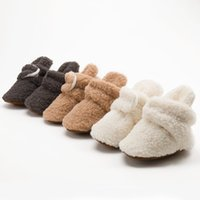 2021 baby first walkers kids boys girls winter Coral fleece shoes boots soft anti-skid cute animals keep warm toddler infant bottom prewalkers