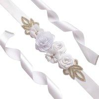 Rosa flor pérola cinto casamento branco rosa caçador azul caçador florais casamento faixa de dama de honra festa pregant festa