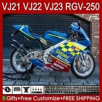Cuerpo para Suzuki RGVT RGV 250CC 250 CC RGV250 Blue Glossy SAPC VJ22 RVG250 VJ 22 20HC.77 RGV-250 Panel 90 91 92 93 94 95 96 96 RGVT-250 1990 1991 1992 1993 1994 1995 1996 1993 1994 1995 1996 Fairing