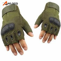 Tactical Gloves Military Special Forces Outdoor Half finger gloves Anti-skid Hiking Airsoft Paintball