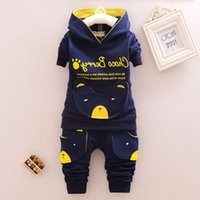 Fashion Children Boys Girl Cartoon Suits Baby Cotton Hoodies Pants 2Pcs Sets Spring Autumn Clothes Toddler Tracksuits