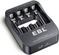 EBL Smart AA AAA NiMH Rechargeable Battery Charger - 2A USB Charging Port 2 Hour Quick Chargers